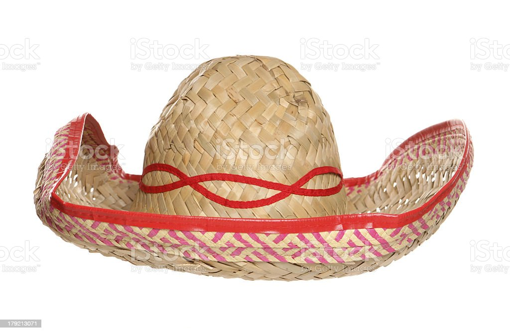 Mexican sombrero hat royalty-free stock photo