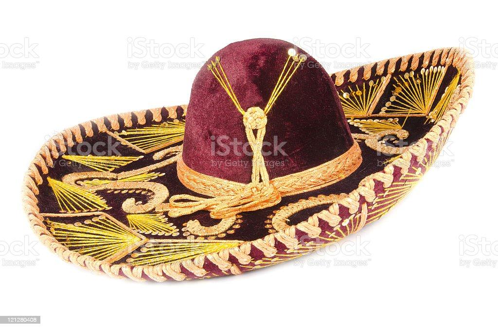 Messicano Sombrero Isolato Su Bianco - Fotografie stock e altre ... 0aeaab7b47c2
