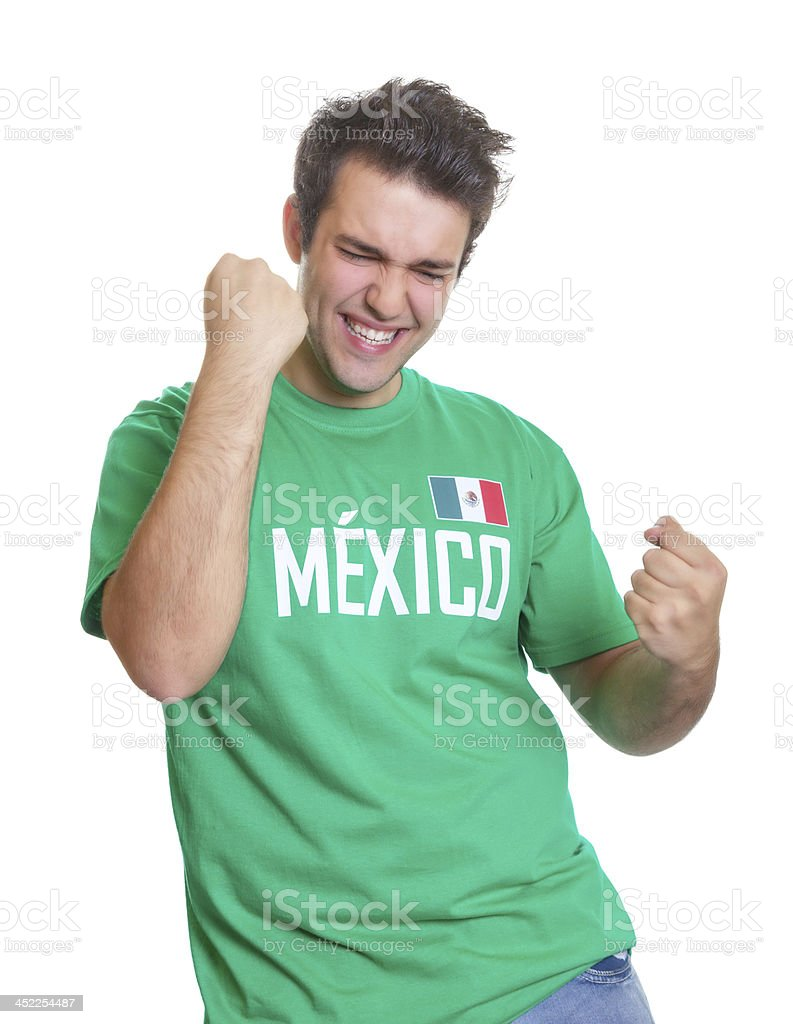 Mexican sports fan freaks out stock photo
