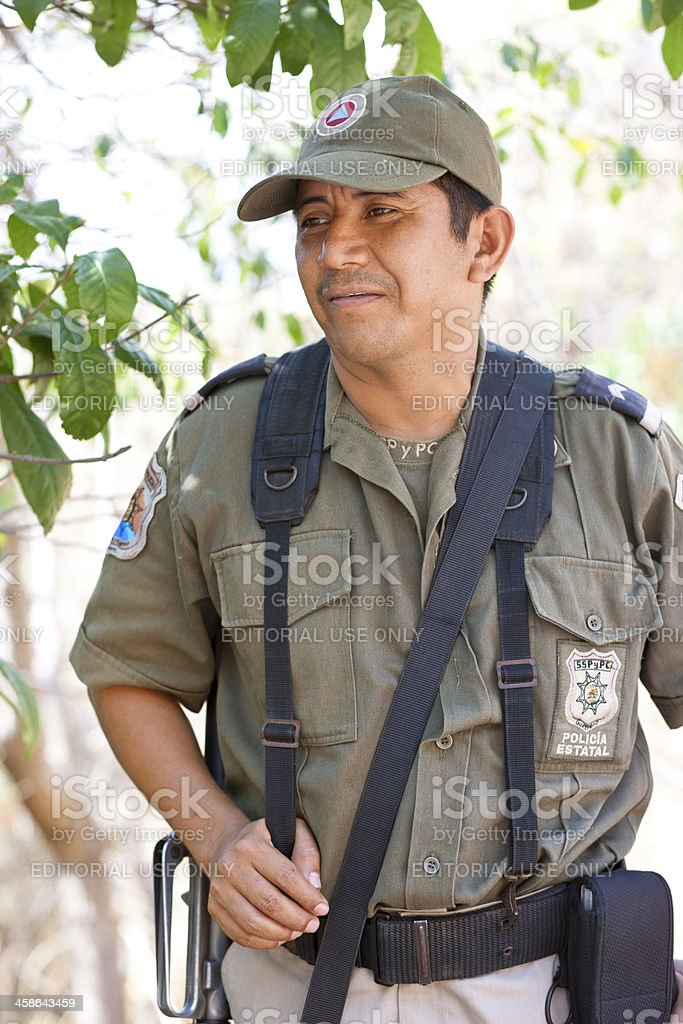 Mexican State Policeman royalty-free stock photo