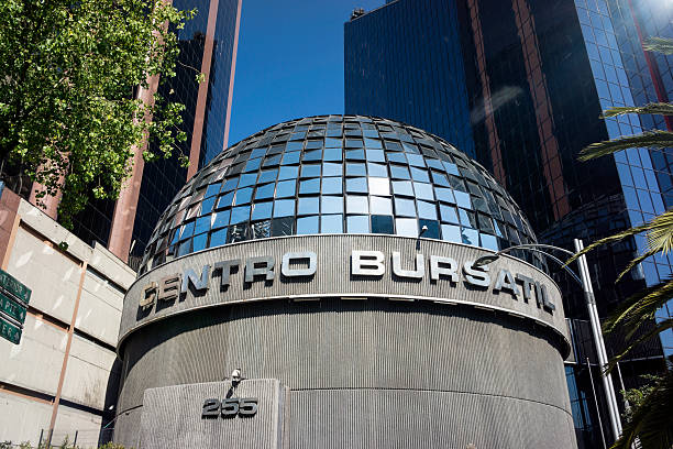Mexican Stock Exchange In Mexico City stock photo