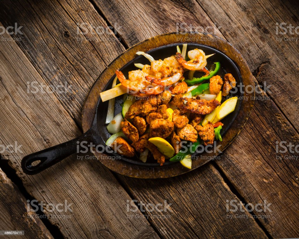 Mexican Style Food Plate stock photo