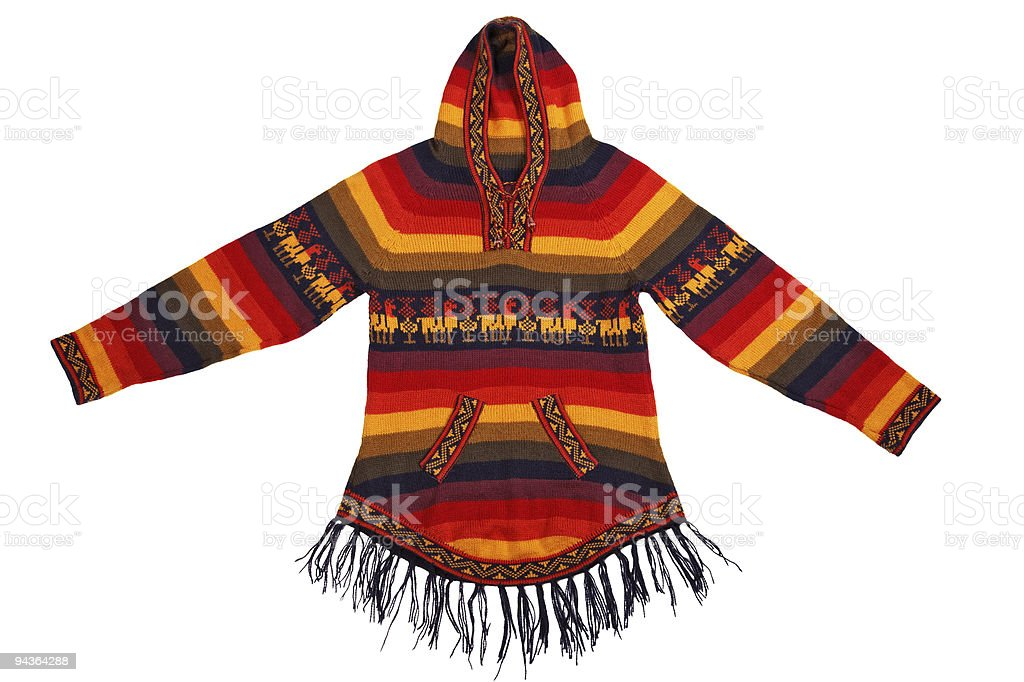 Mexican style knitted jacket stock photo