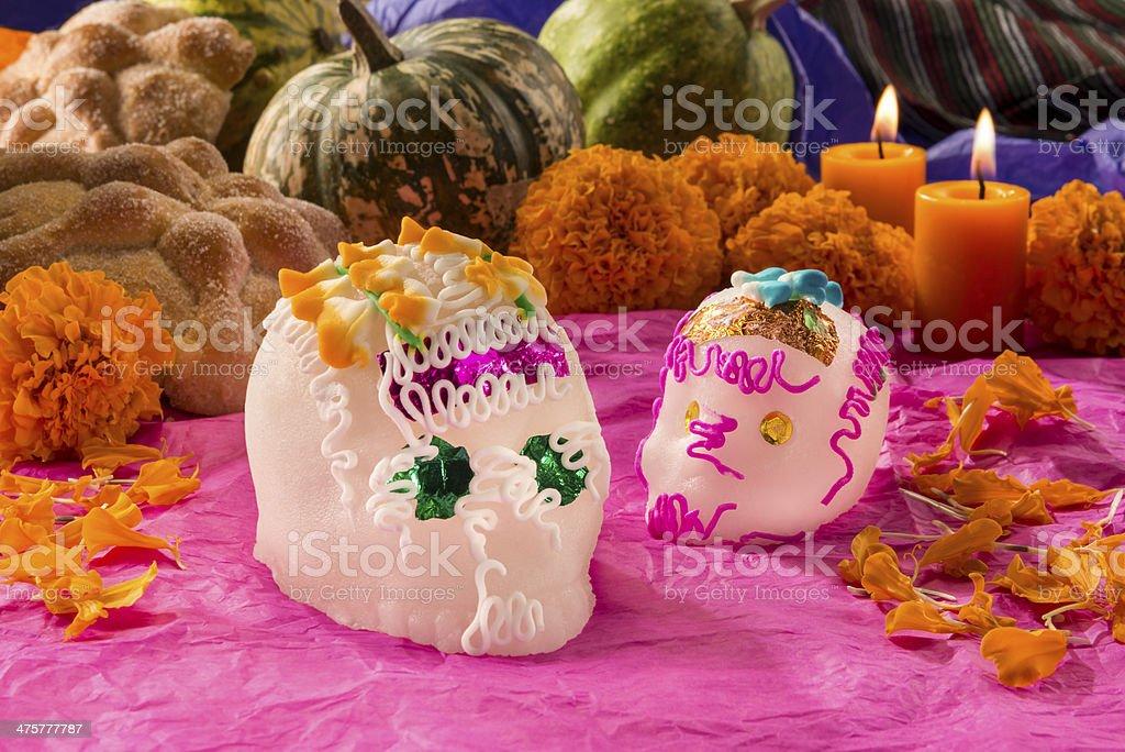 """Mexican Sugar Skull or """"Calaverita"""" stock photo"""