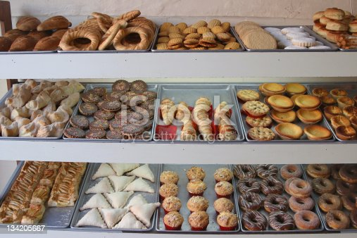 An assortment of pan dulce, in Mexico.