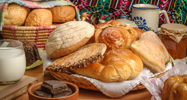 Mexican sweet bread Sweet bread assorted traditional Mexican bakery sweet bun stock pictures, royalty-free photos & images