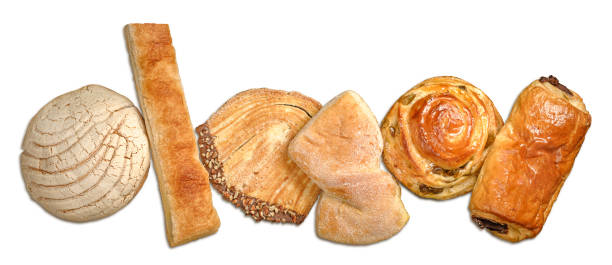 Mexican sweet bread Sweet bread assorted traditional Mexican bakery isolated sweet bun stock pictures, royalty-free photos & images