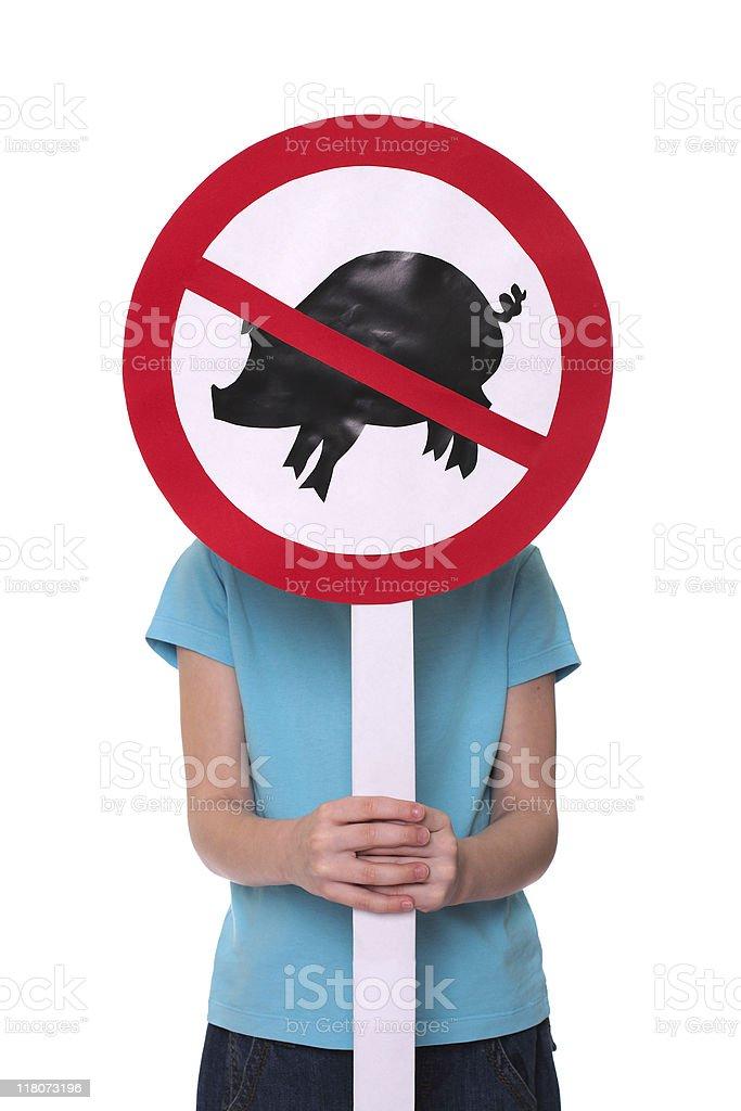 Mexican swine flu virus royalty-free stock photo