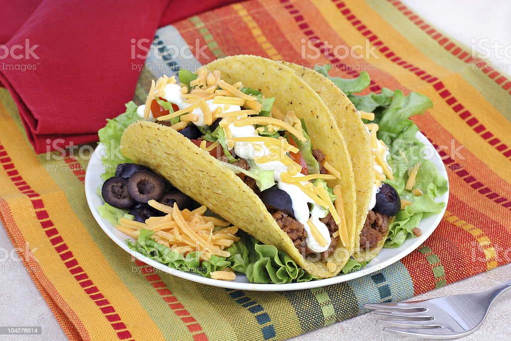 Mexican Taco Dinner royalty-free stock photo