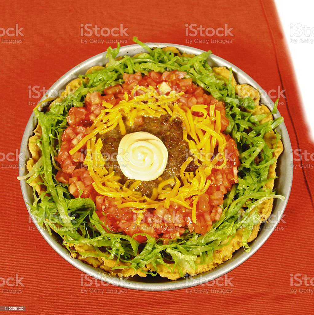Mexican taco pie royalty-free stock photo