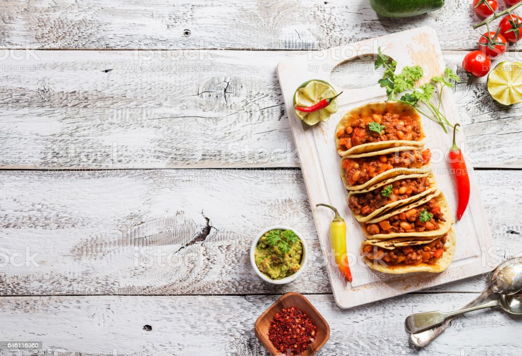 Mexican tacos with meat – Foto