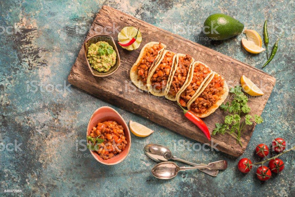 Mexikanische Tacos mit Fleisch – Foto