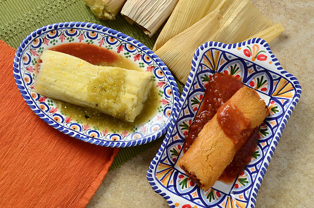 Mexican Tamales stock photo
