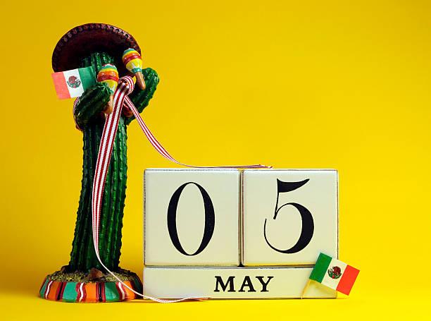 mexican theme save the date calendar for cinco de mayo. - cinco de mayo stock photos and pictures