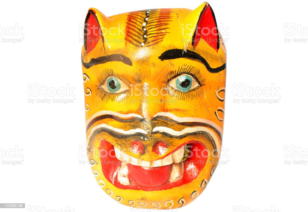 mexican tiger mask royalty-free stock photo
