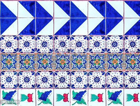 Mexican tile mosaic pattern