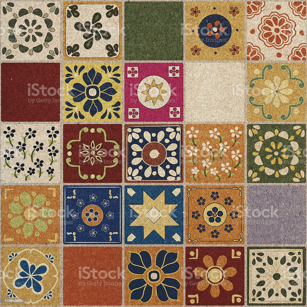 Mexican Tiles royalty-free stock photo
