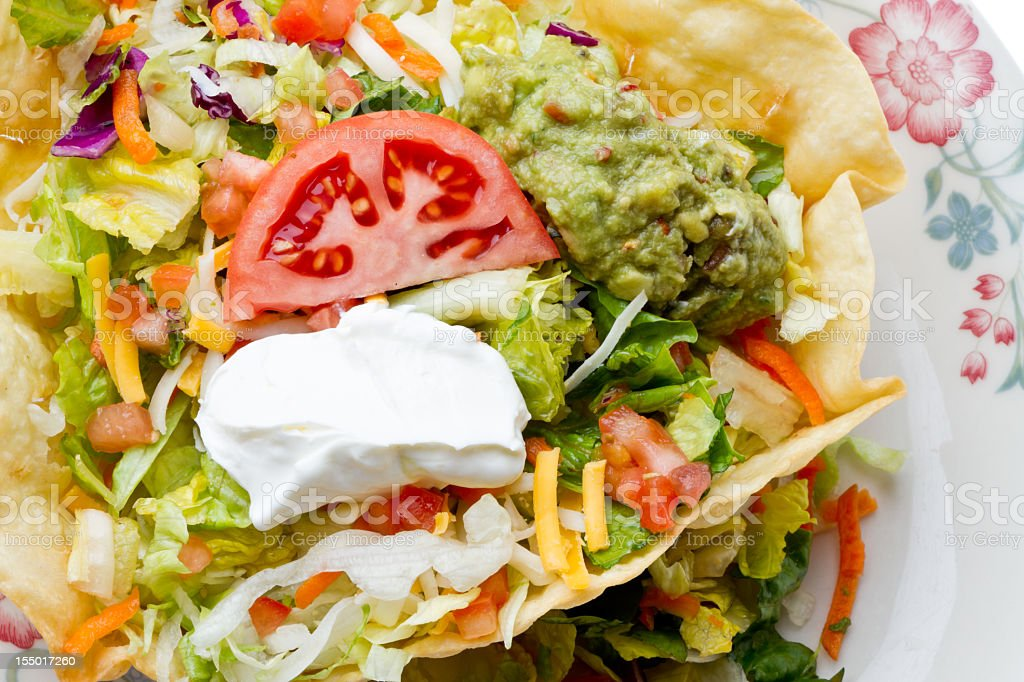 Mexican Tostada Salad stock photo