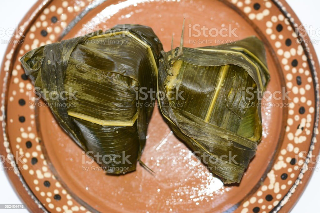 Mexican traditional dish from Michoacán state Corunda royalty-free stock photo