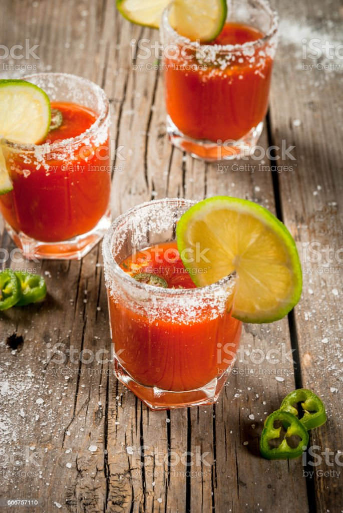 Mexican traditional drink Sangrita foto stock royalty-free