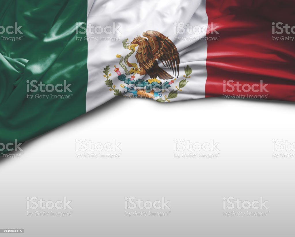 Mexican waving flag stock photo