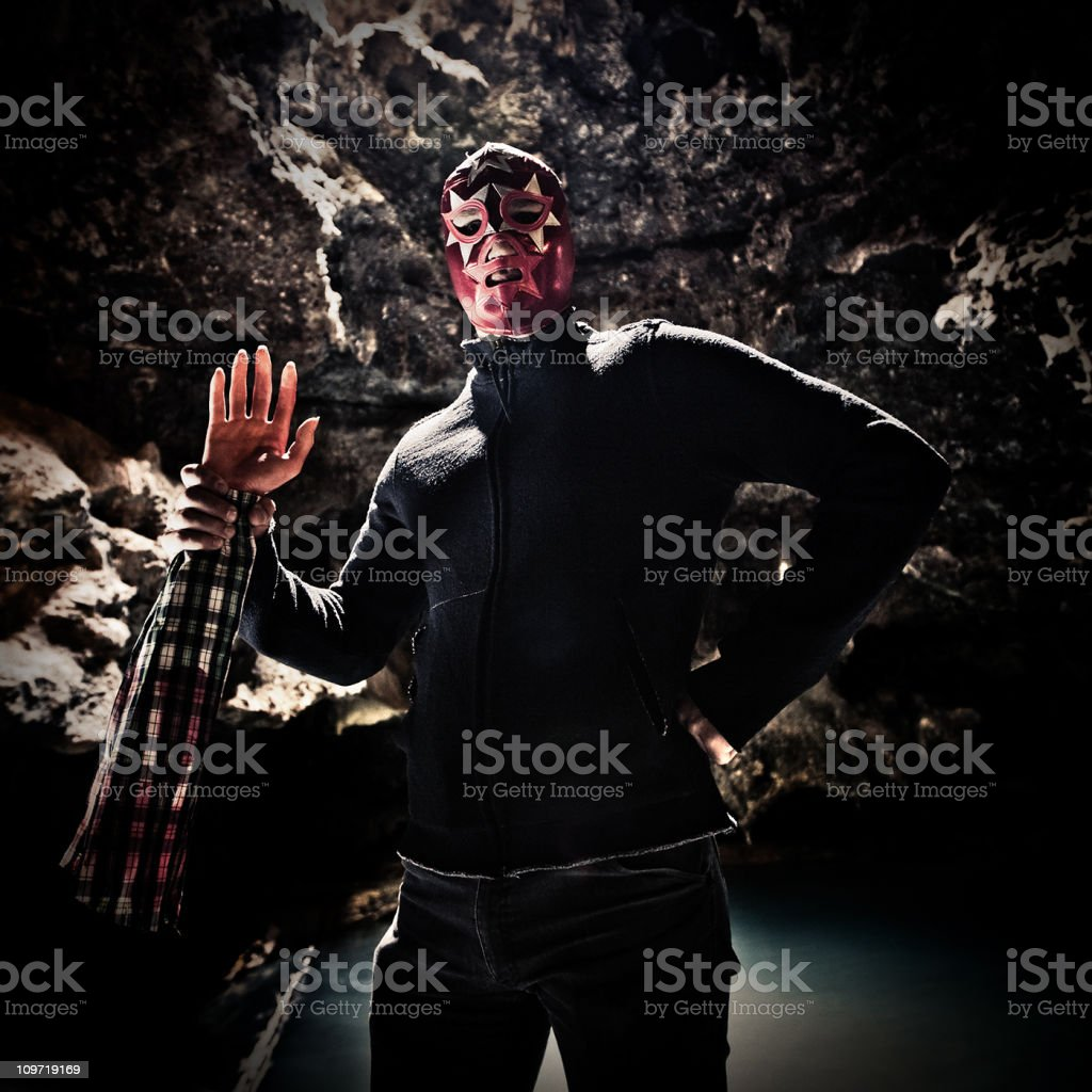 mexican lucha libre fighter royalty-free stock photo