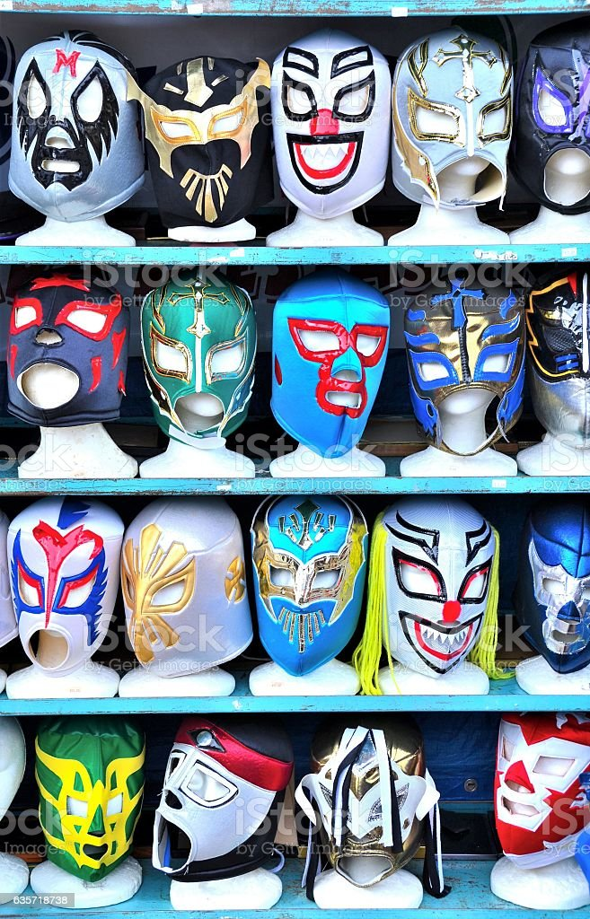 Mexican Wrestling Masks stock photo
