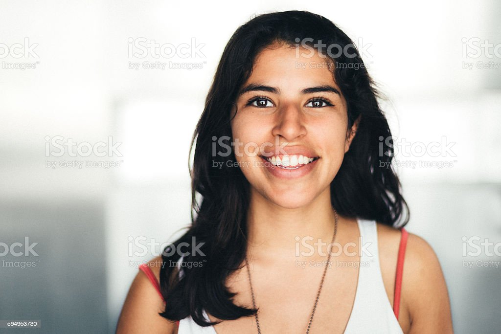 Mexican young woman Portrait stock photo