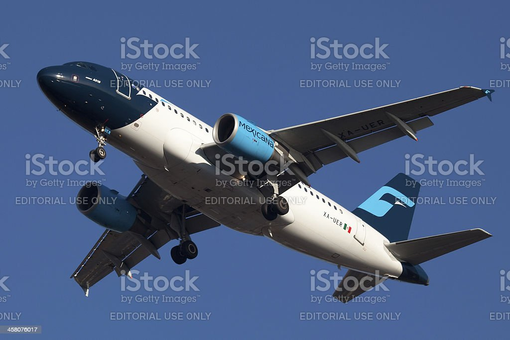 Mexicana Airbus A319 royalty-free stock photo