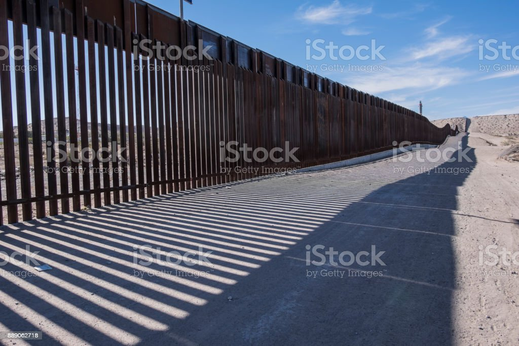 US Mexico Border Fence stock photo