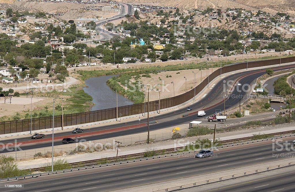 US Mexico Border royalty-free stock photo