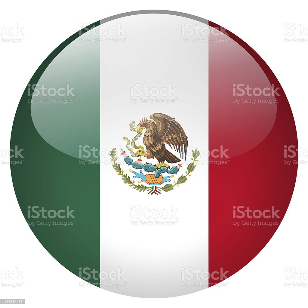 Mexico button stock photo