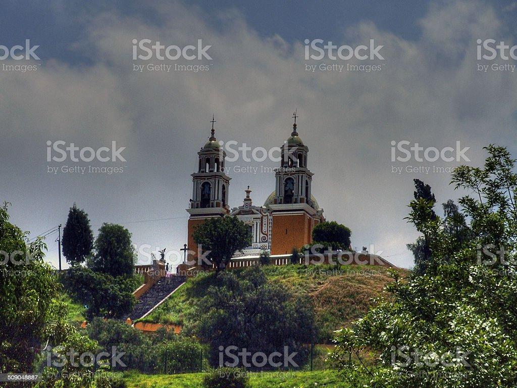 Church, catedrales. Iglesia española, Cholula Puebla, México - foto de stock
