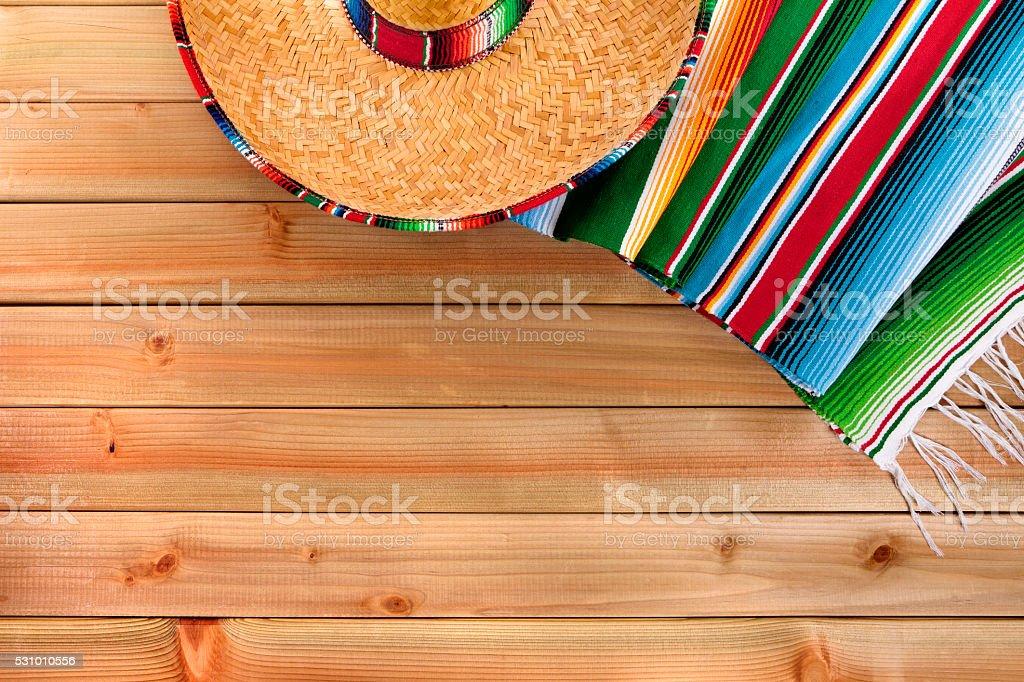 Mexico cinco de mayo mexican sombrero fiesta background stock photo
