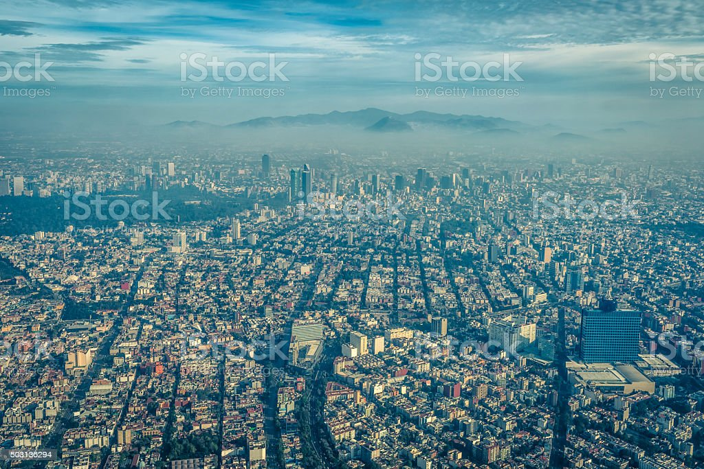 Mexico City, Aerial View stock photo