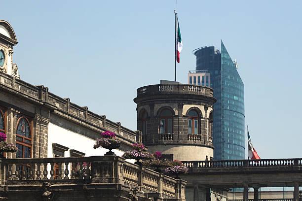 Mexico city architecture contrast stock photo