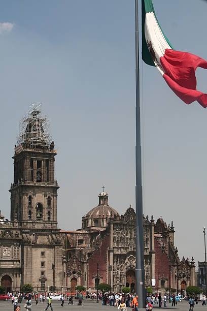 mexico city catedral stock photo