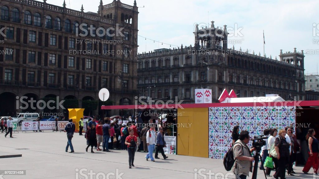 View Of Building Exterior And People Walking Around, Making Movies,...