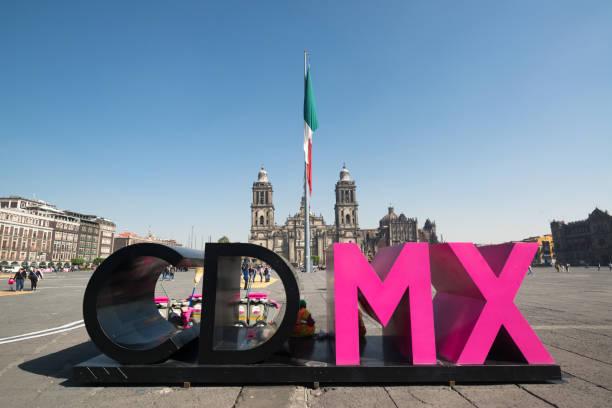 Ciudad de Mexico letters stock photo