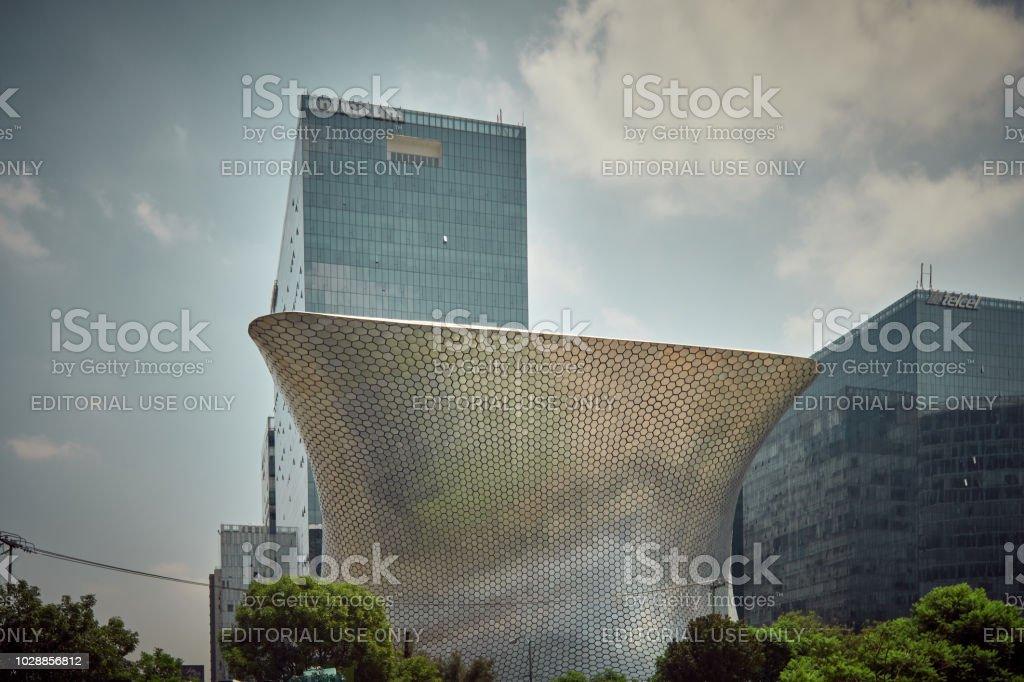 The Soumaya Art Museum, designed by architect fernando romero, under...