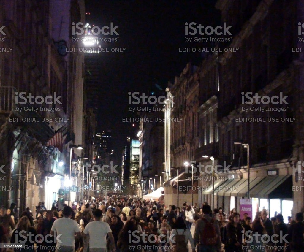 View Of Building Exterior, Advertising Signs, Lots Of People Looking...