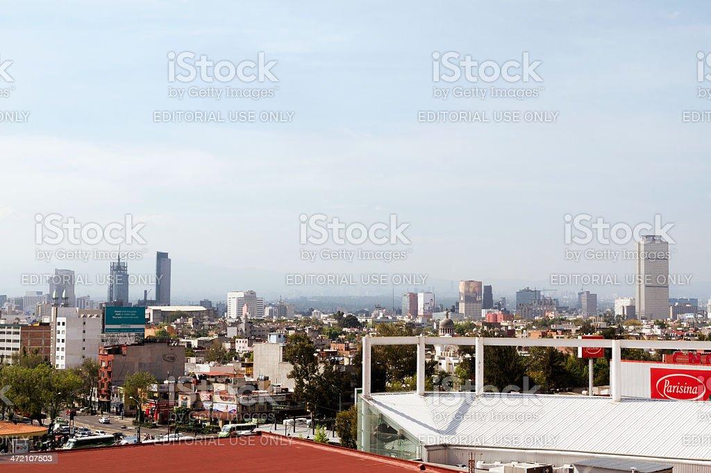 Mexico City skyline from Buenavista royalty-free stock photo