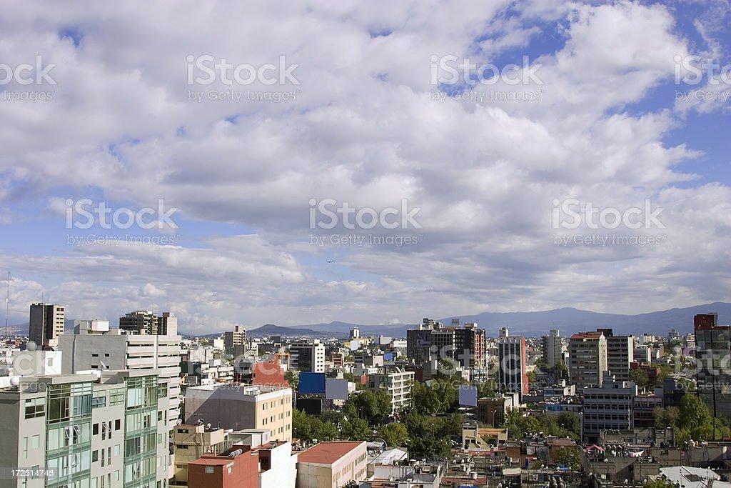 mexico city skyline royalty-free stock photo