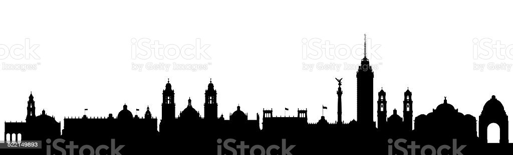 Mexico City Skyline stock photo