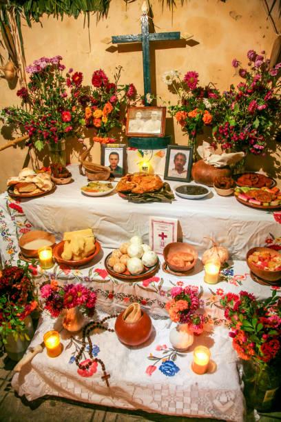 Mexico - Day of the Dead - Dia de Muertos - Altar - Ofrenda - No people stock photo