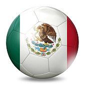 Mexico flag football soccer ball