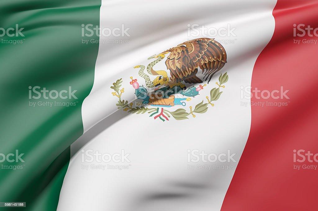 Mexico flag waving - foto de stock