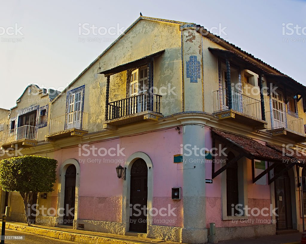 Mexico: House in Old Mazatlan, Pacific Coast stock photo