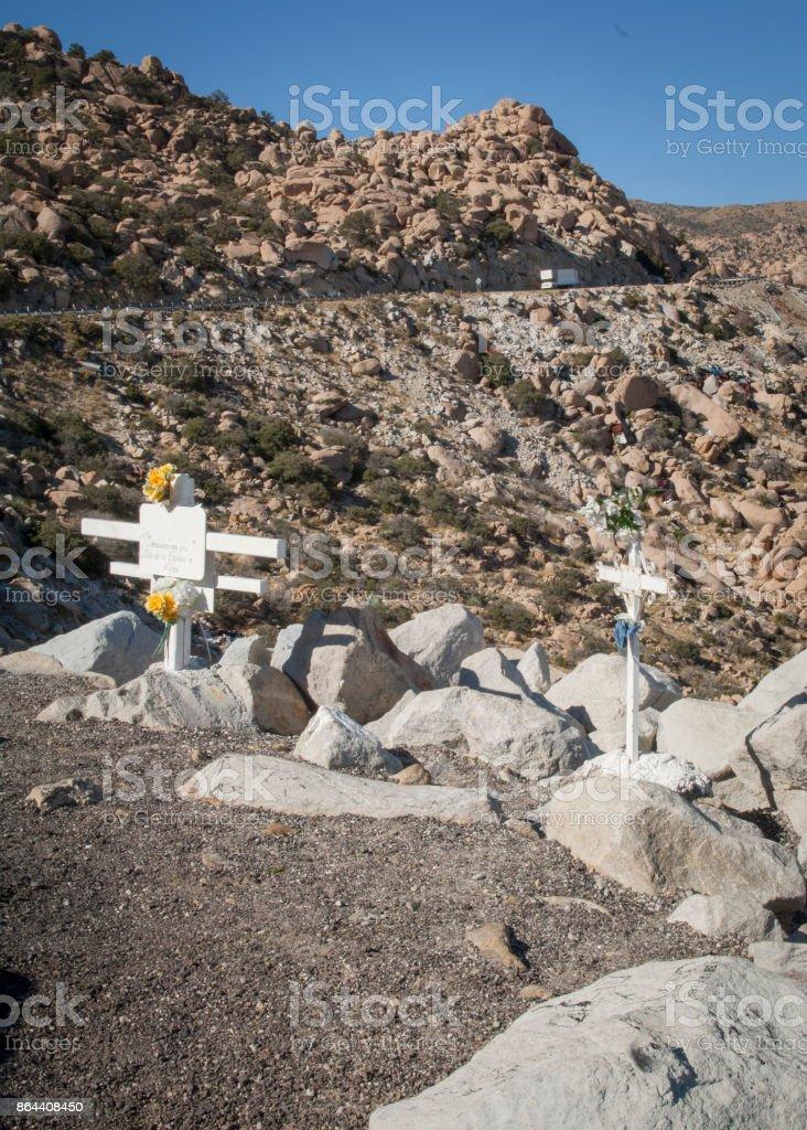 Mexico La Rumorosa Highway stock photo