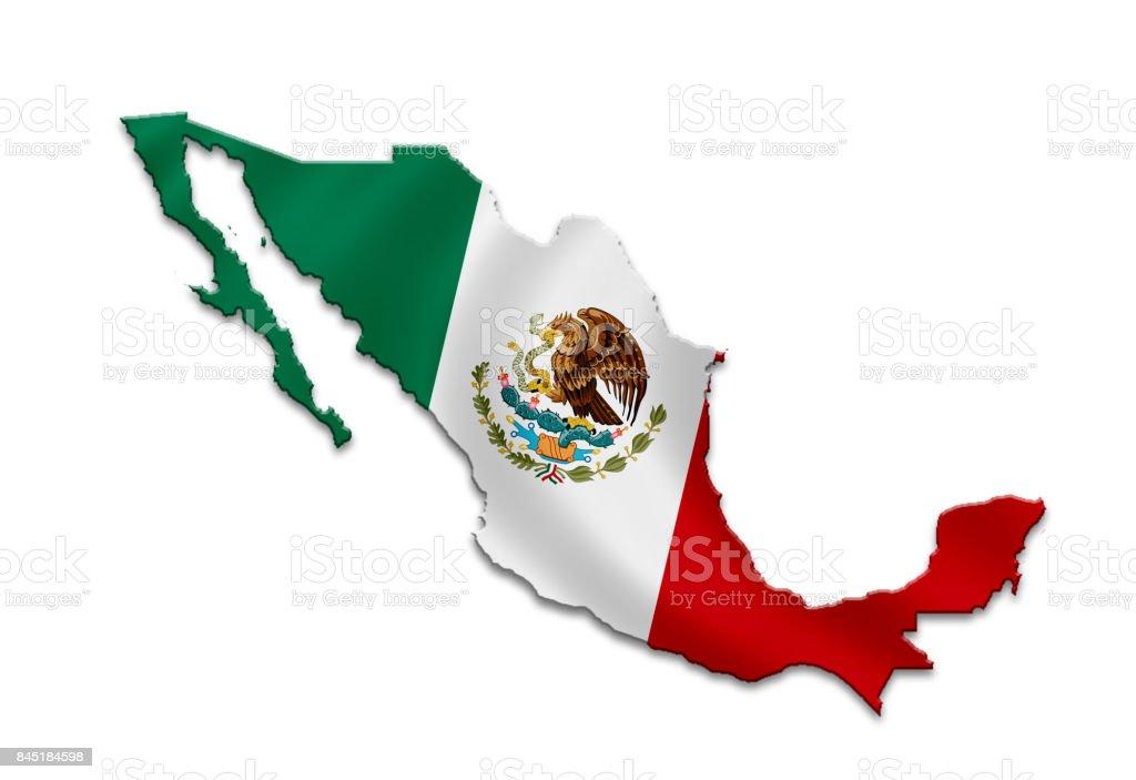 Mexico - map icon stock photo